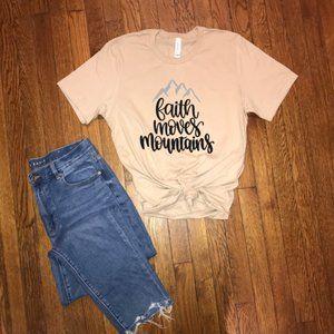 NEW faith moves mountains t-shirt